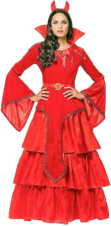 Costume Robe Carnaval DIAVOLESSA Fancy Dress Halloween Cosplay Veneziano Party 4473