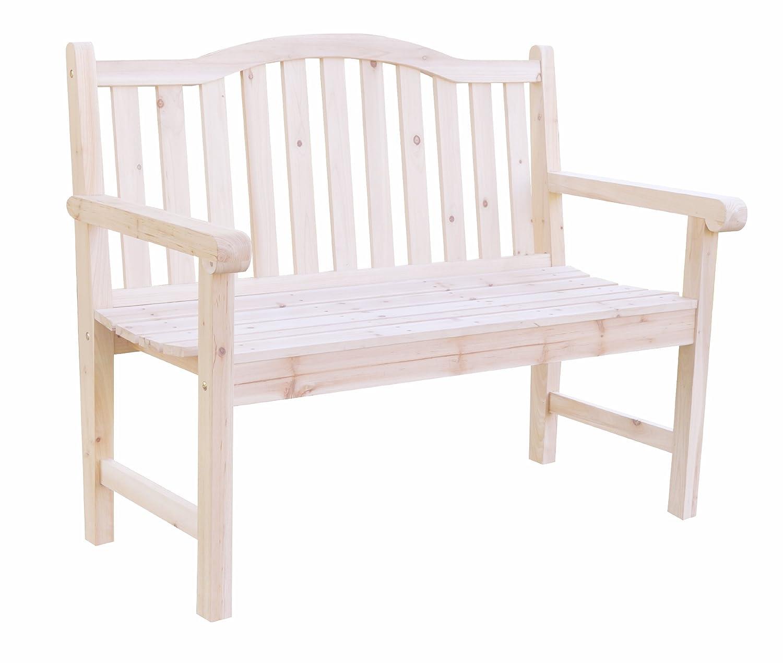 amazon com shine company belfort garden bench natural outdoor