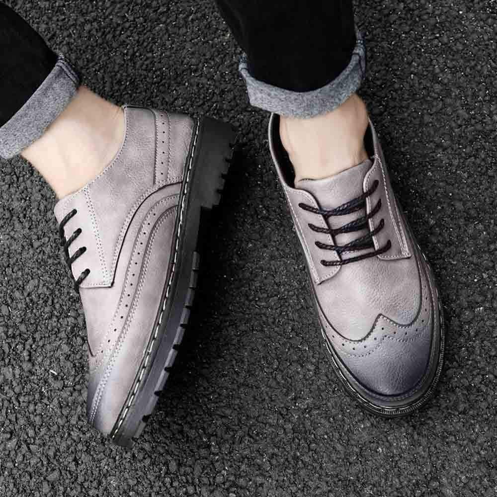 Manadlian Casual Chaussure Hommes Bottes Cuir Business Respirent Oxford Derby Shoes Convient pour Quatre Saisons 39-44 EU