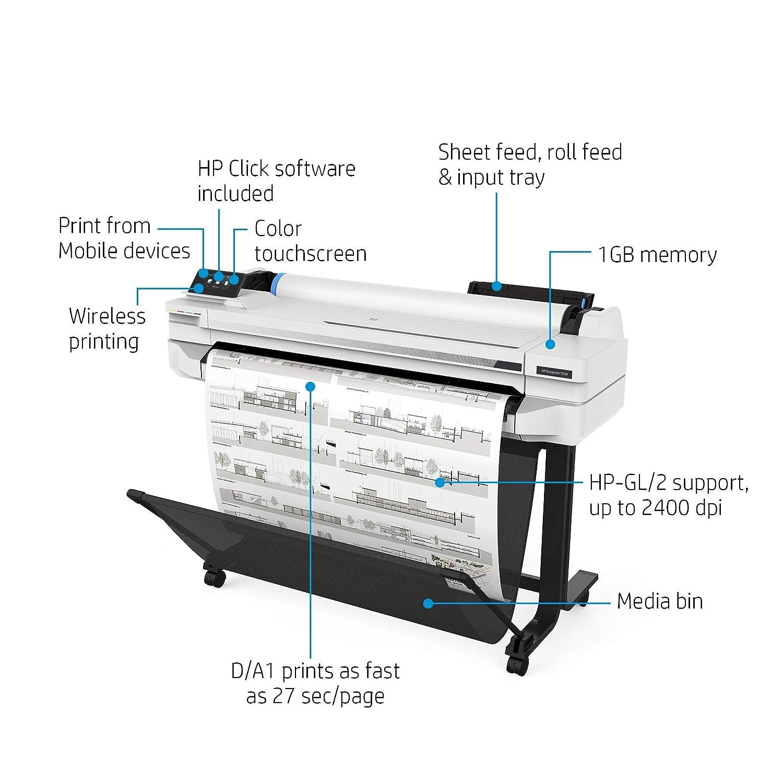 HP DesignJet T530 Large Format Wireless Plotter Printer: Amazon.in ...