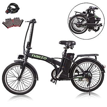 Nakto Bicicleta Eléctrica Deportiva Shimano 6 velocidades ...