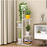 Indoor Metal Tiered Plant Stand - 5 Tier 6 Potted Indoor Multi-Tiered Iron Plant Shelf Tall Narrow Flower Pot Multiple Layer