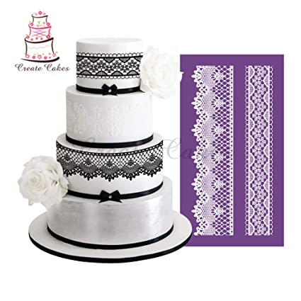Buy Virtue Palace Style Lace Stencil For Cake Design Fondant Wedding