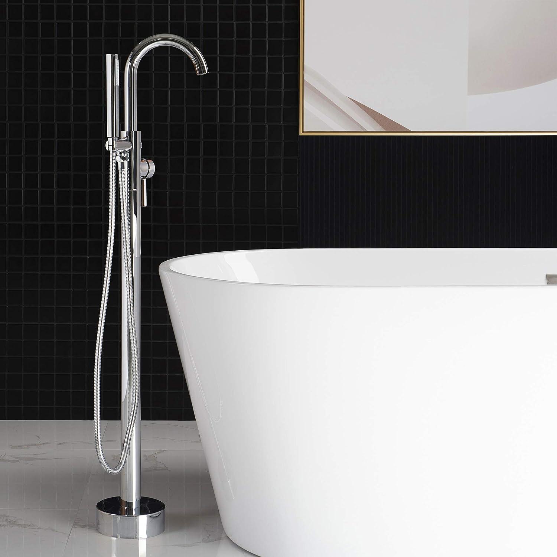 WOODBRIDGE F-0002 Chrome Freestanding Tub Filler Bathtub ...