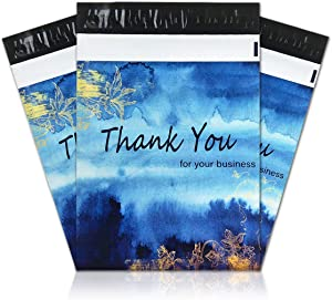 """100 Pack Poly Mailers, 10"""" X 13"""" Envelopes Plastic Custom Mailing Shipping Bags, Poly Mailer Envelope with Self Seal Adhesive Strip - Waterproof & Tear-Proof (Blue Dreamlike)"""