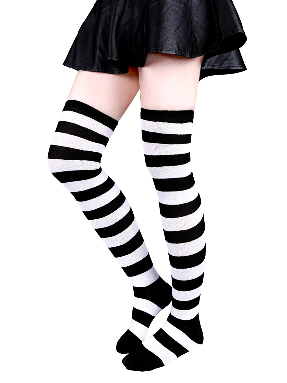 Aneco Over Knee Thigh Socks High Thigh Stockings Women Sock for Cosplay,Daily Wear