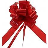 """20 x 50 mm (2 """") Rapiddi raso Bows - Rosso per Decorazioni regali, fiori Mazzi e Arrangiamenti, cestini, Auto matrimonio, omaggi floreali, Arts & Crafts, cesti natalizi"""