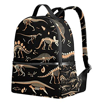 School Backpack for Teen Boys Girls Dinosaur Skeleton Students Bookbags