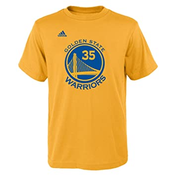 Kevin Durant juventud Golden State Warriors oro nombre y número Jersey camiseta