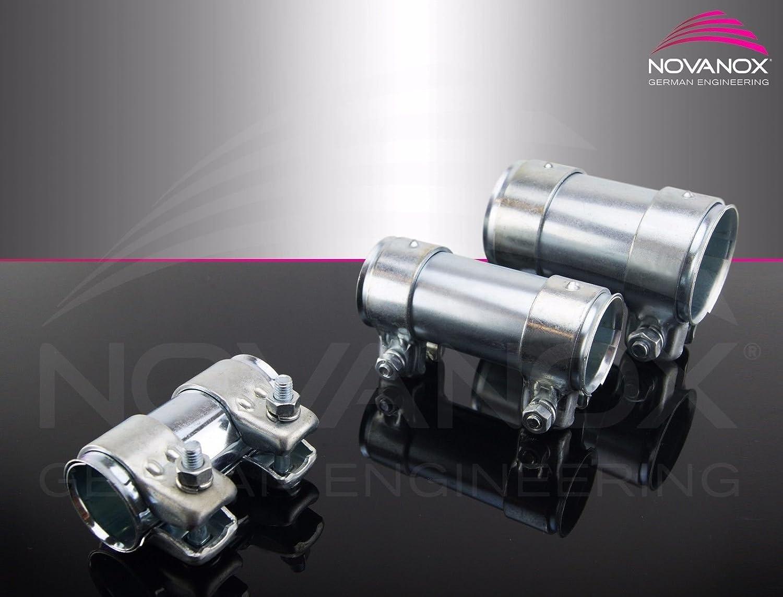 Rohrverbinder Ø 50 x 54 x 80 mm verzinkt Doppelschelle Universal Auspuff NovaNox GmbH & Co KG
