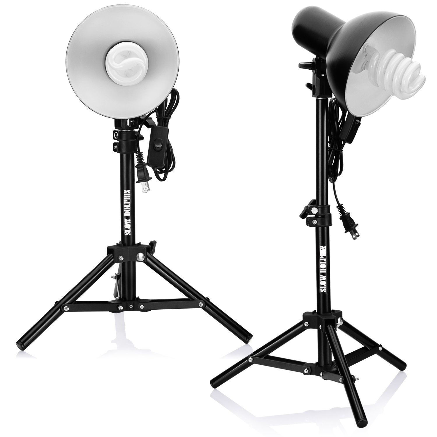 Slow Dolphin 2 x 45W Bulbs Photography Fluorescent Lamp Lighting kit(2 Sets)