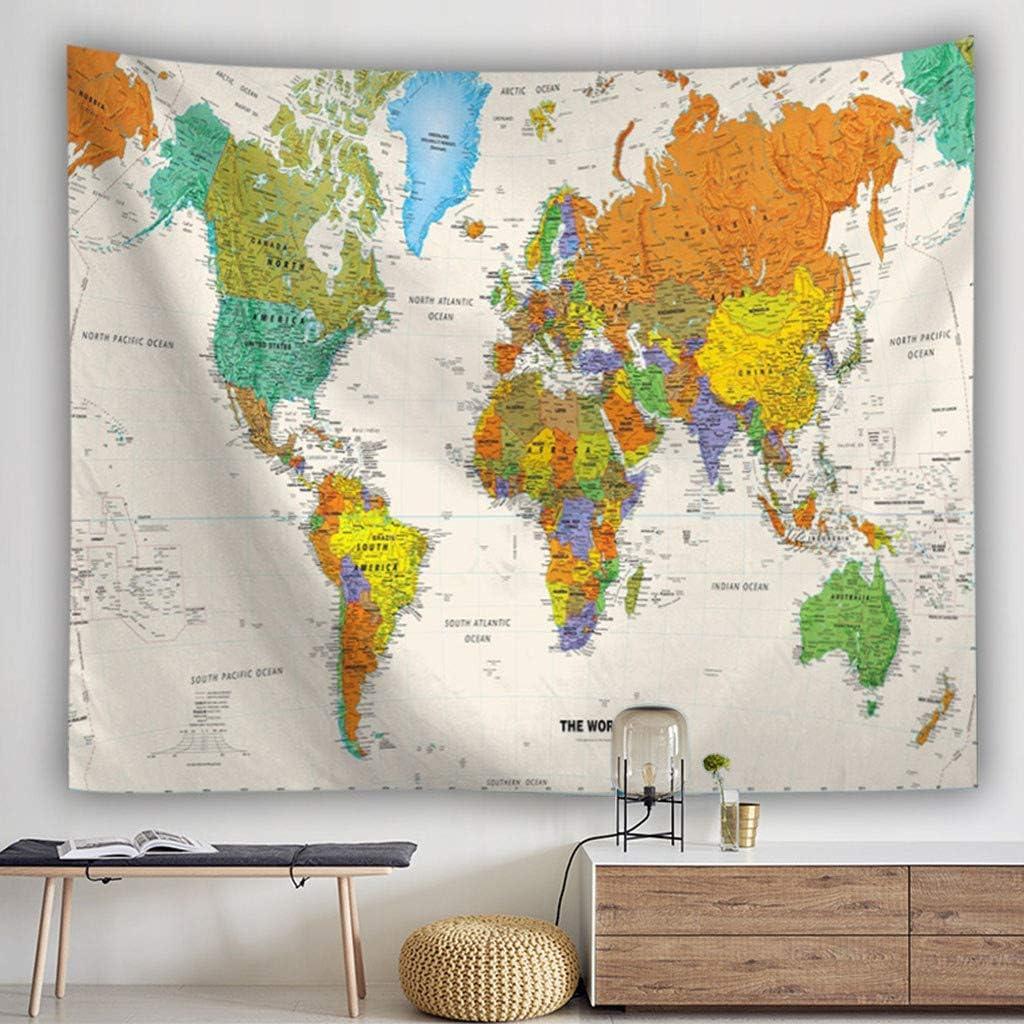 Saingace – Mapa del mundo – Tapiz decorativo para pared de bosque ...
