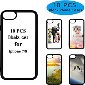 10PCS Sublimation Blanks Phone Case Covers for iPhone 8 iPhone 7, 4.7Inch.Blank Printable Phone Case for DIY Heat Press
