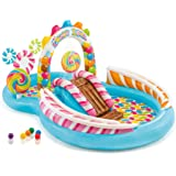"""Intex Candy Zone Inflatable Play Center, 116"""" X 75"""" X 51"""", for Ages 2+ Blue"""