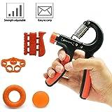 Supmaker Hand Grip Strengthener Set Adjustable Hand Gripper, Finger Exerciser, Finger Stretcher, Exercise Ring & Grip Strengthener Balls (Pack of 5)
