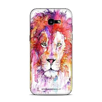 Funda Galaxy A5 2017 Carcasa Samsung Galaxy A5 2017 mascotas dibujos de leones de pintura / Cubierta Imprimir tambin en los lados / Cover ...