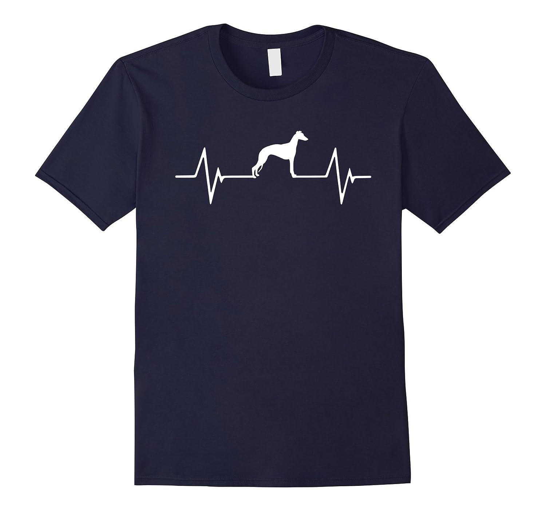 Love Whippet Heartbeat T-Shirt-CL
