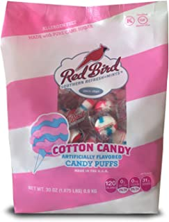 product image for Red Bird Cotton Candy Puffs, 30 oz bag | Made w/100% Pure Cane Sugar | Melt-in-Your-Mouth Candy | Allergen-Free, Gluten-Free, Kosher and Individually Wrapped