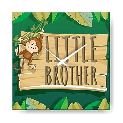YaYa CafeTM 10x10 Inches Birthday Gifts For Kid Little Brother Wall Clock Monkey Canvas Rakhi Amazonin Jewellery