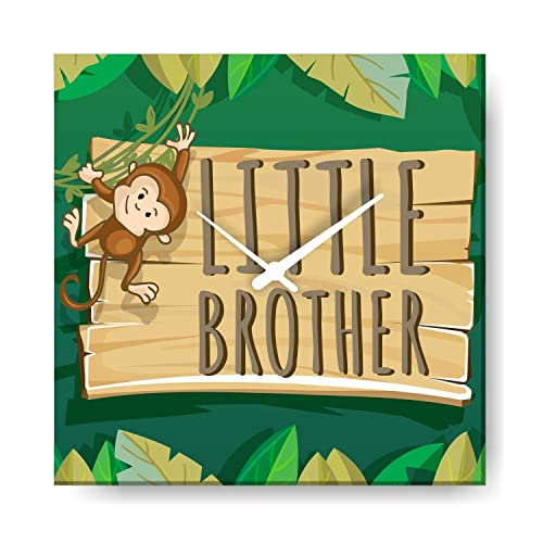 YaYa CafeTM 10x10 Inches Birthday Gifts For Kid Little Brother Wall Clock Monkey Canvas Rakhi Amazonin Jewellery