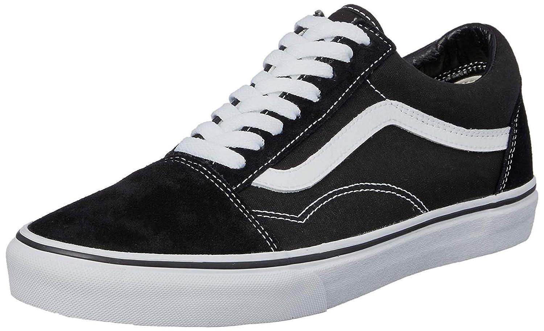 Vans Old Skool Unisex Adults' Low Top Trainers 7.5 M US Black White