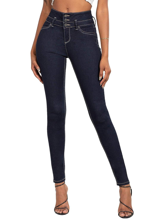 YMI Jeanswear Juniors 11 High-Waisted Three-Button Waistband Skinny Jeans