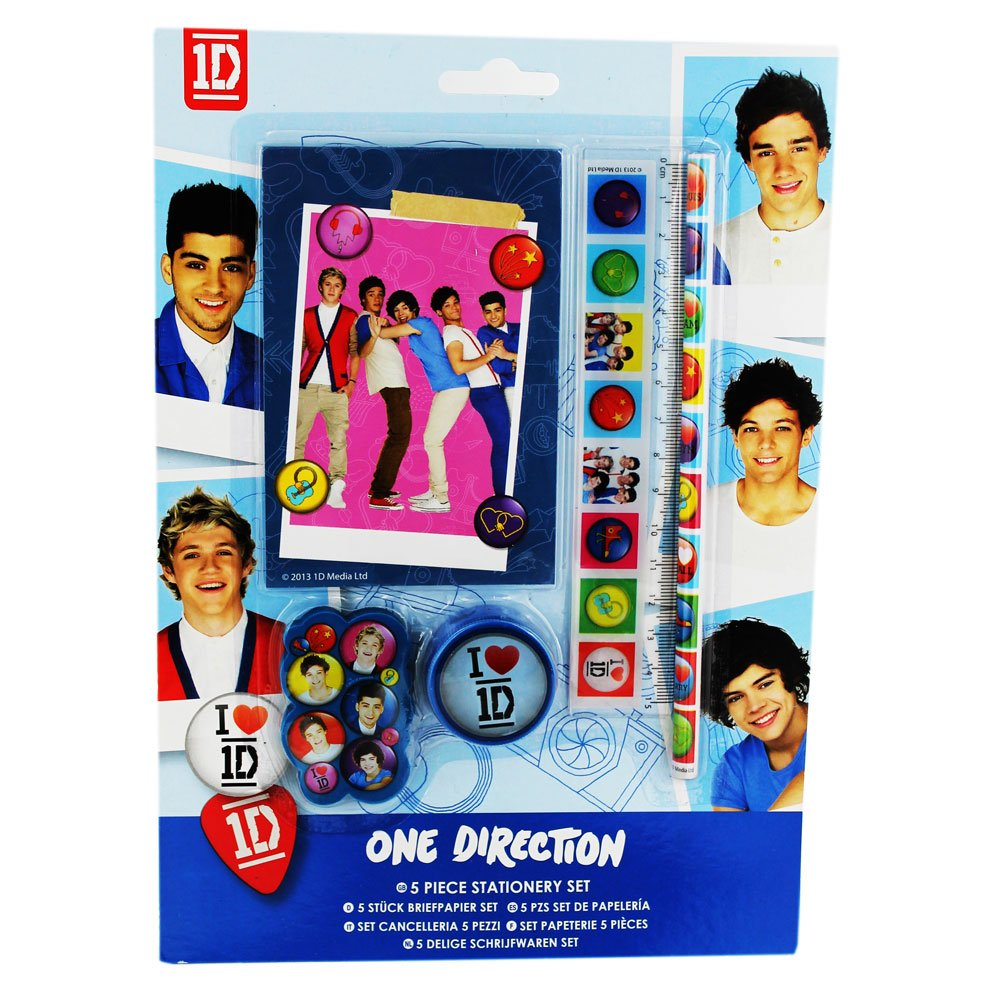 One Direction Stationery Set 5 Pieces Amazoncouk Office Products
