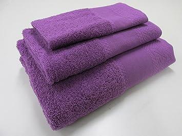 Confort Home M.T (Morado) Juego de Toallas de baño 3 Piezas REGALITOSTV (1