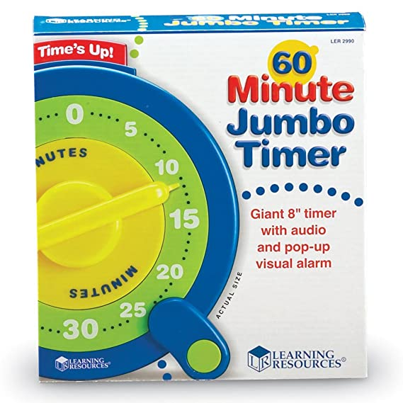 Amazon com: Learning Resources 60 Minute Jumbo Timer/No