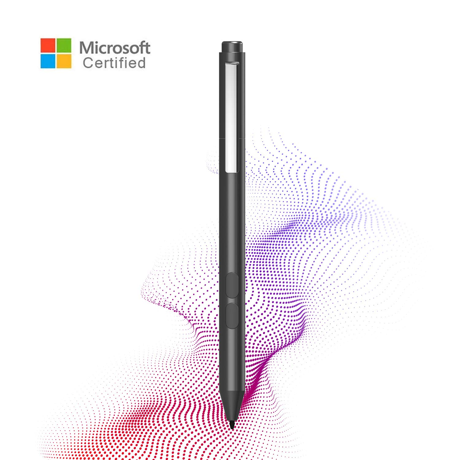 VORCSBINE Active Stylus Pen for Microsoft Surface Pro X/7/6/5/4/3 with 1024 Pressure Sensitivity, Surface Book 1/2, Surface Studio/Go,Surface Laptop 3-Grey by VORCSBINE