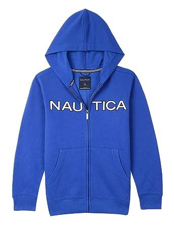 ec7a838a4 Nautica Boy's Toddler Full Zip Classic Logo Fleece Hoodie, Kameron Cobalt,  ...