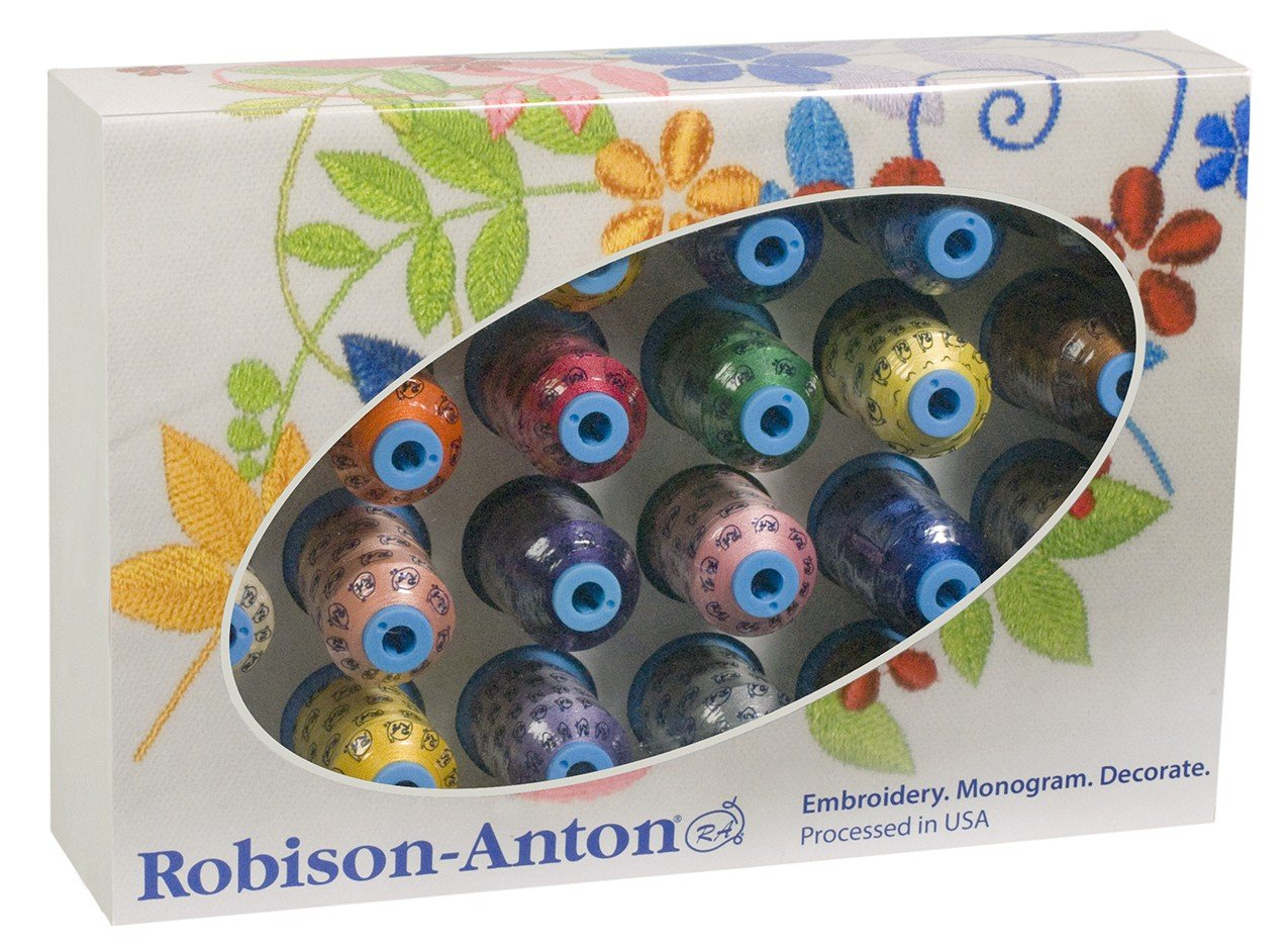 Robison-Anton Polyester Embroidery Top 24 Colors Thread (Set of 24) GGP202199999