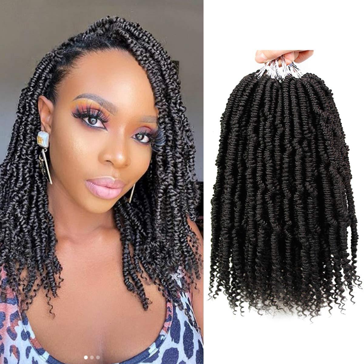 Amazon Com 6 Packs Bomb Twist Crochet Hair 14 Inch Spring Twist Crochet Braids Pre Looped Pre Twisted Passion Twist Hair Synthetic Senegalese Twist Nubian Twist Curly Hair Extensions 1b Beauty