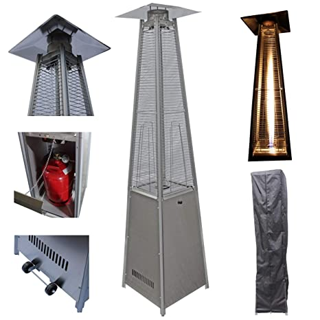 Top Multi Radiador para terraza calefactor de gas de acero inoxidable Pirámide con apagado automático sobre