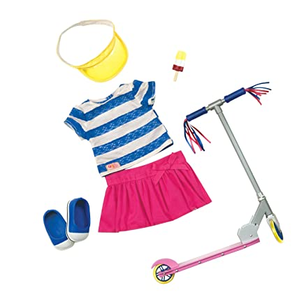 Our Generation Dolls Cute To Scoot Doll Deluxe Scooter Outfit, 18