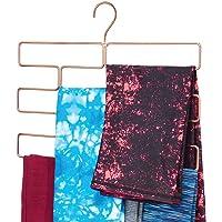 mDesign Modern Metal Closet Rod Hanging Accessory Storage Organizer Rack for Scarves, Ties, Yoga Pants, Leggings, Tank…