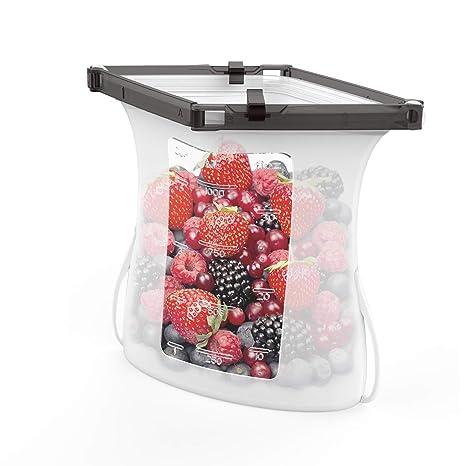 Amazon.com: Bolsas de silicona reutilizables para alimentos ...