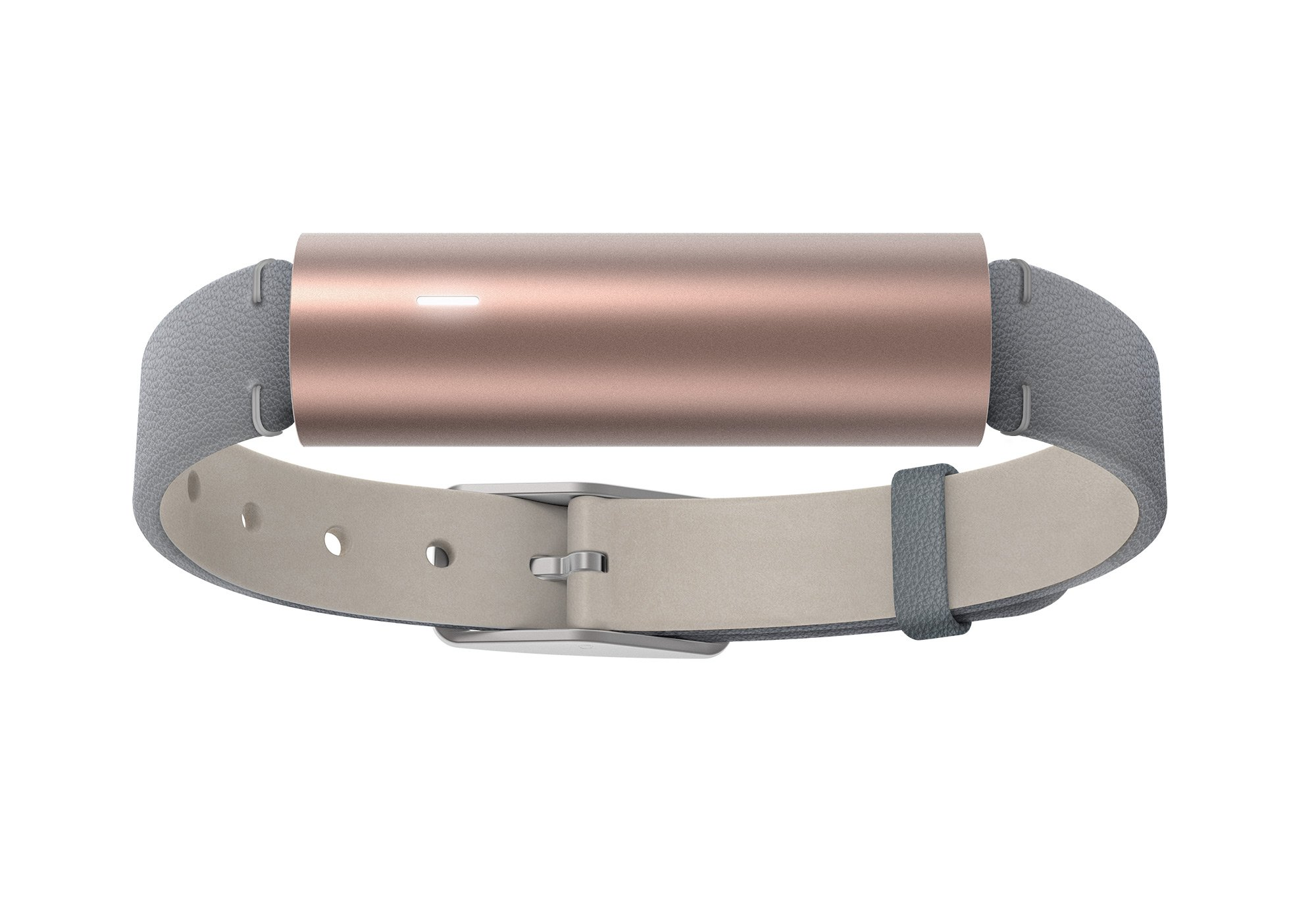 Misfit Ray - Fitness + Sleep Tracker with Gray Leather Band (Rose Gold)