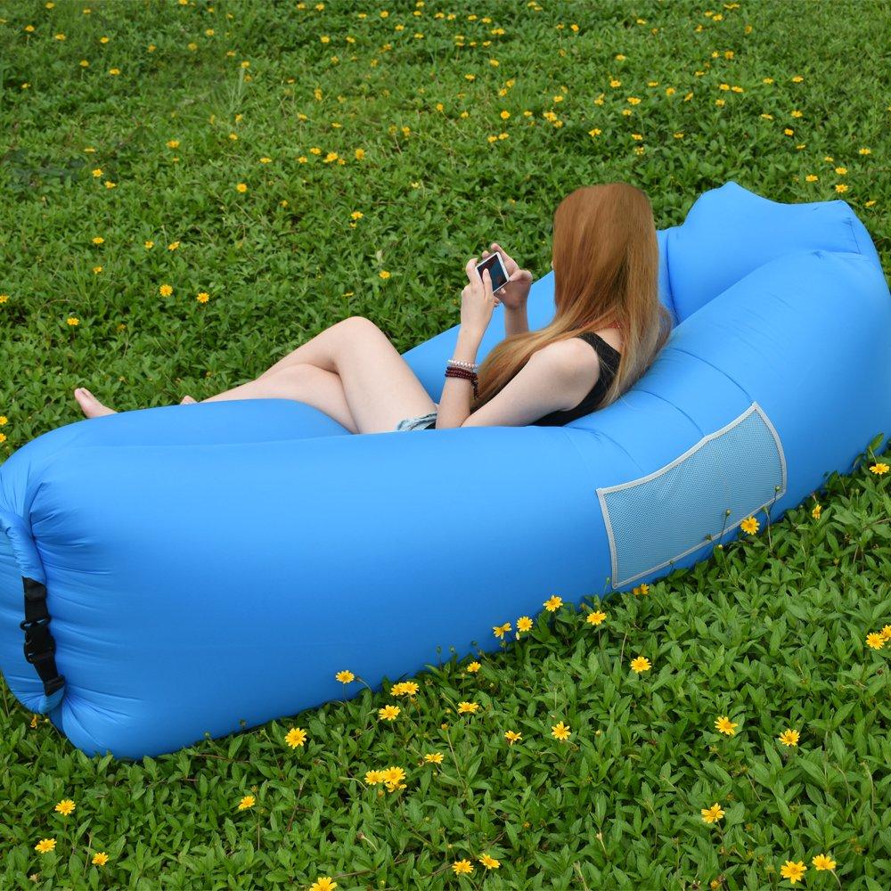 IREGRO Hamac Gonflable canapé avec oreiller intégré et sac de rangement