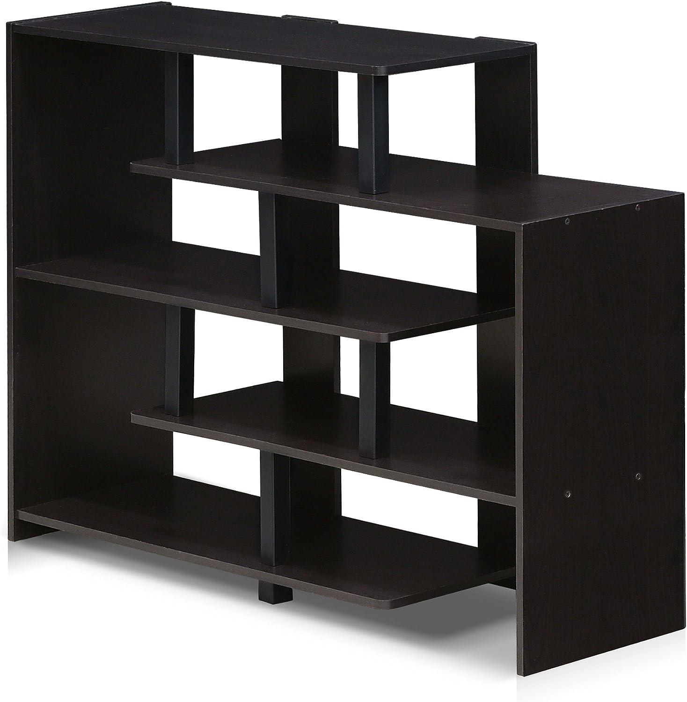 Wood Espresso//Black Furinno Storage Shelves one size