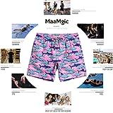 MaaMgic Mens Slim Fit Quick Dry Swim Shorts Shark