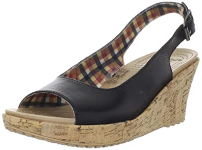 f86fd5638571 Crocs Women s A-Leigh Wedge Sandal