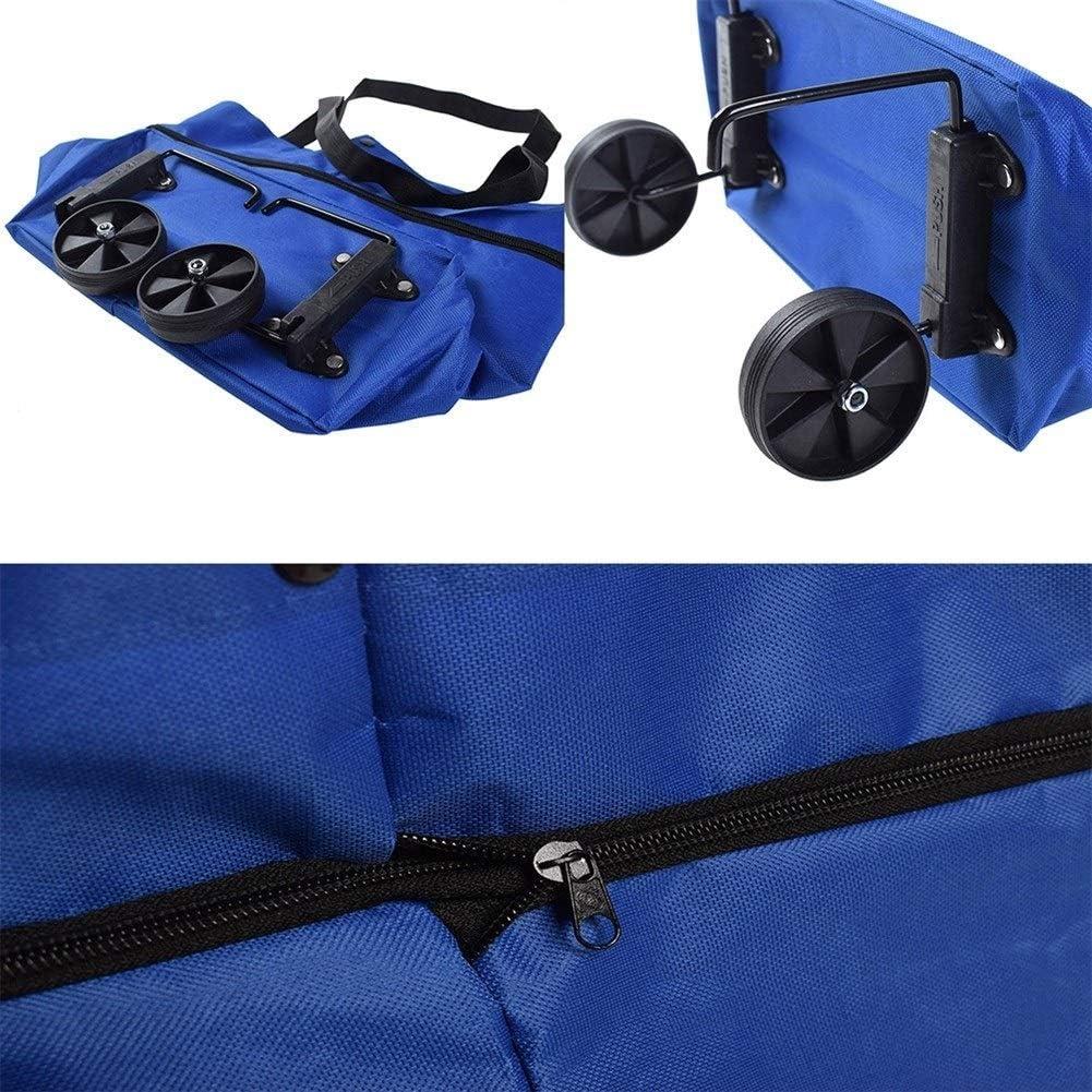 wiederverwendbar umweltfreundlich tragbar Farbe: 1 N\A KXDSM Einkaufstasche mit Rollen faltbar mit gro/ßem Griff