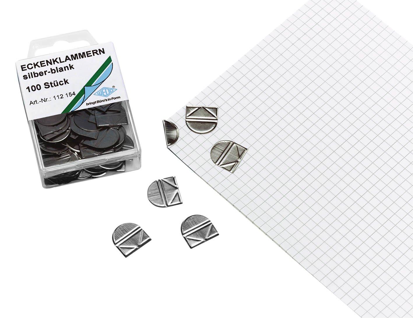 100 Eckenklammern von Alco Albert® für Bewerbung und Präsentation Top Qualität