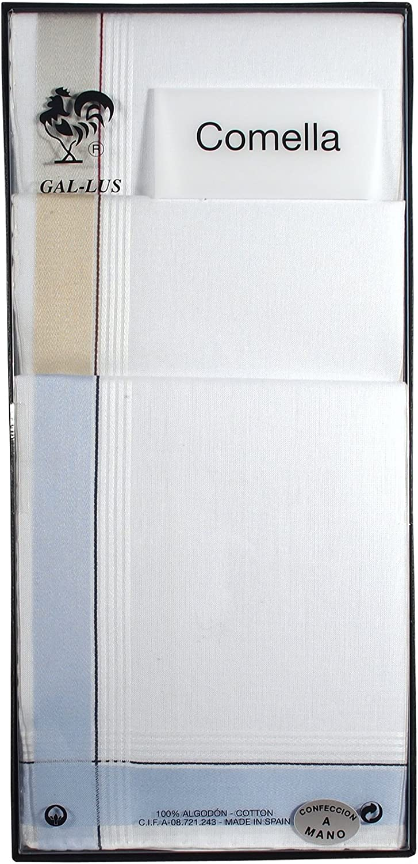 Gal-lus C-1164C/8 Pañuelo algodón, Blanco, 45 cm Hombres: Amazon ...