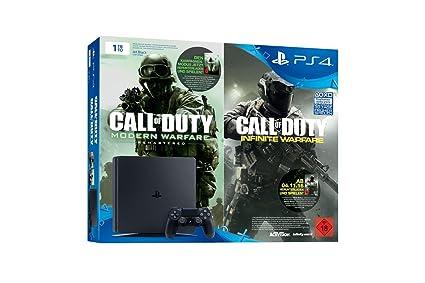 PlayStation 4 - Konsole (1TB, schwarz) inkl. Call of Duty: Infinite Warfare Legacy Edition (Code)