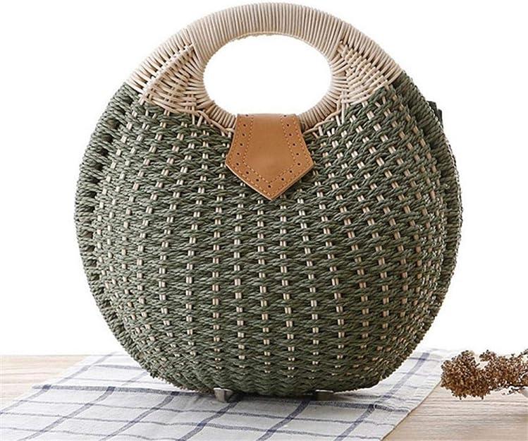 Wicker Woven Crossbody Shell Shape Straw Beach Bucket Summer Fashion Vacation Women Top Handle Handbag