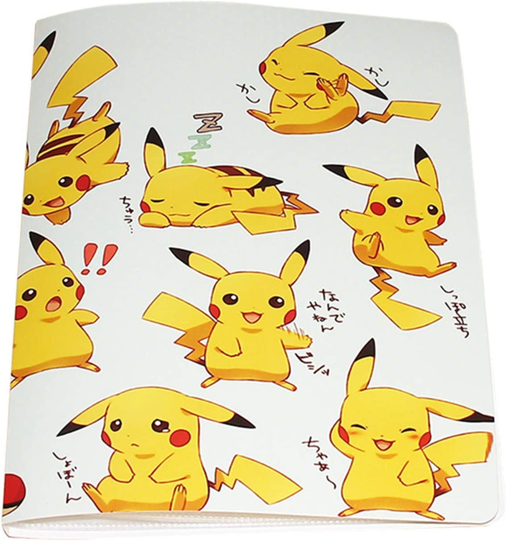 Álbumes Compatible con Cartas Pokemon, Carpeta Compatible con Cartas de Pokémon, Álbum Titular Compatible con Cartas Pokémon, 18 páginas con capacidad para 324 cartas (324-PIKAQIU)