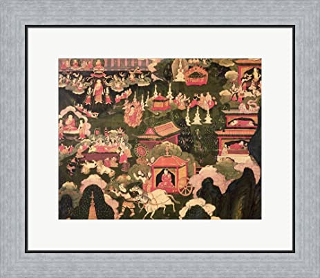 Amazon.com: Parinirvana and the Death of Buddha Framed Art Print ...