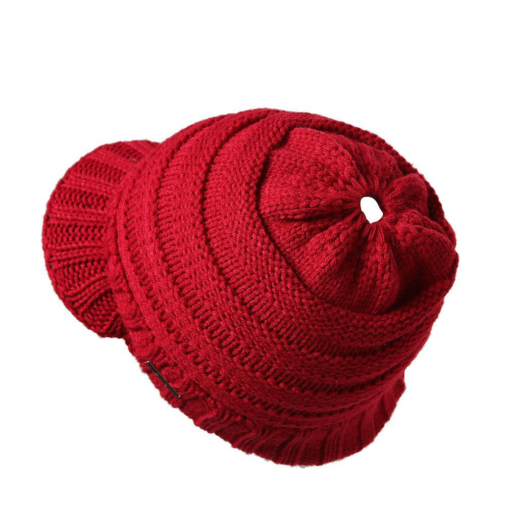 Vovotrade Hombres Mujeres Baggy Crochet Invierno Cálido De Lana De ...